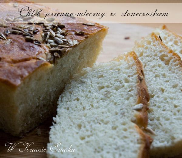 Chleb pszenno-mleczny ze słonecznikiem