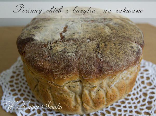 Pszenny chleb z bazylią na zakwasie