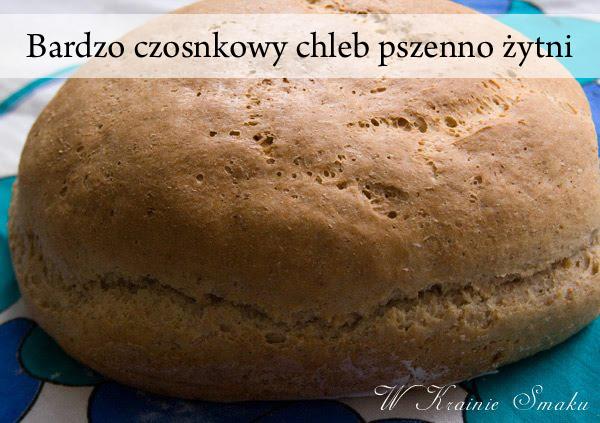 Bardzo czosnkowy chleb pszenno żytni