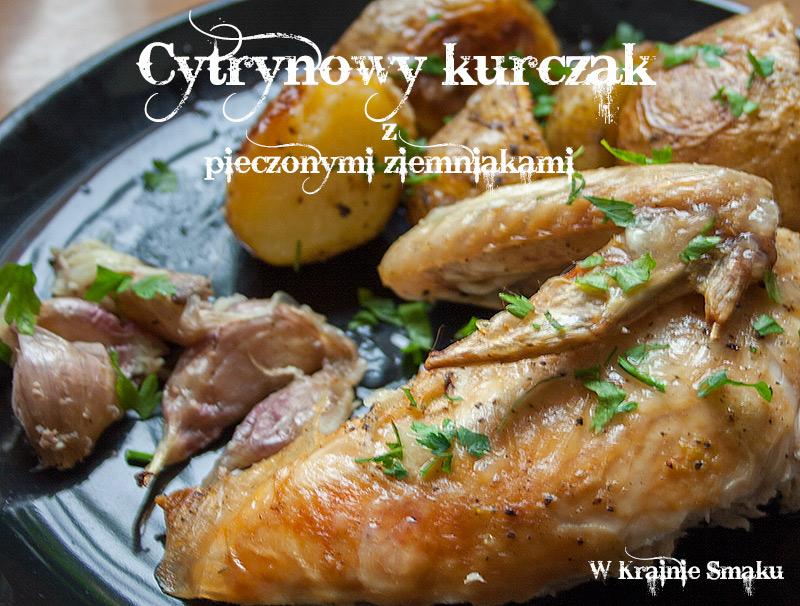 Cytrynowy kurczak z pieczonymi ziemniakami
