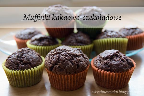 Muffinki kakakowo-czekoladowe