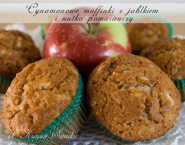 Cynamonowe muffinki z jabłkiem i nutką pomarańczy