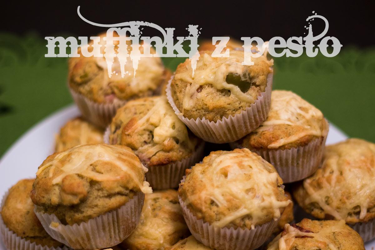 Muffinki z pesto